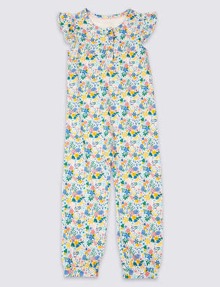 Marks and Spencer Pure Cotton Romper Pyjamas (1-7 Years)