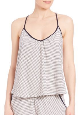 Eberjey Striped T-Back Cami $69 thestylecure.com