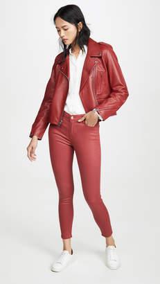 Frame Le High Skinny Coated Jeans