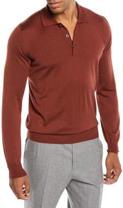 Brioni Men's Long-Sleeve Polo Shirt