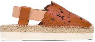 Twin-Set sling-back platform sandals $215.30 thestylecure.com