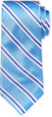 Ike Behar Royal Oak Striped Silk Tie