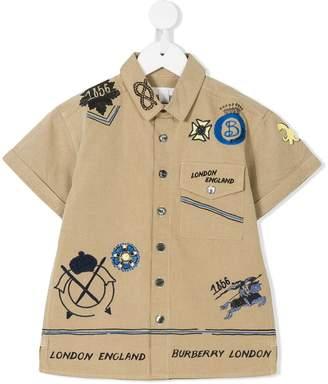 Burberry Adventure Motif Tropical Gabardine Shirt