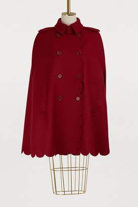 RED Valentino Cape with scalloped details