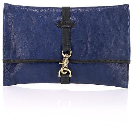 Rag & Bone Leather Clutch, Royal Blue