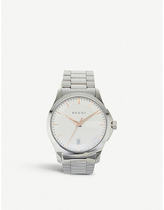 7730d30bbc Gucci YA126442 G-Timeless stainless steel watch