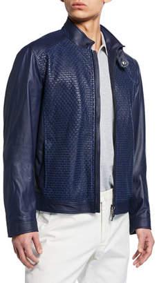 Stefano Ricci Men's Textured Lamb Leather Jacket