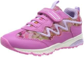 Geox Girl's J Sandal Android Girl Flat Sandals, Fuchsia/Lilac
