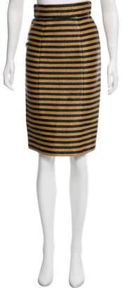 Burberry Striped Knee-Length Skirt w/ Tags
