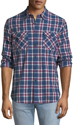 Jachs Ny Madras-Plaid Work Shirt