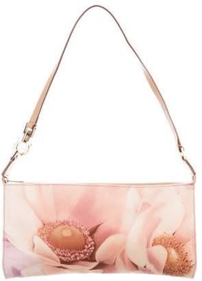 Salvatore Ferragamo Leather-Trimmed Floral Bag