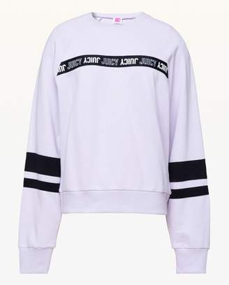Juicy Couture JXJC Repeat Juicy Logo Stripe Pullover
