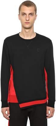 Alexander McQueen Organic Color Block Jersey Sweatshirt