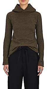 Yohji Yamamoto Regulation Women's Knit Fuzzy Hoodie - Olive