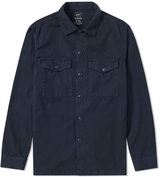 Save Khaki Twill Fatigue Overshirt