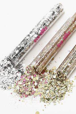 boohoo NEW Womens Biodegradable Metallic Glitter Tubes in Silver size One Size