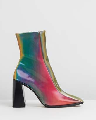 Topshop Hurricane Square Toe Boots