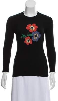 Sonia Rykiel Rib Knit Intarsia Sweater Black Rib Knit Intarsia Sweater