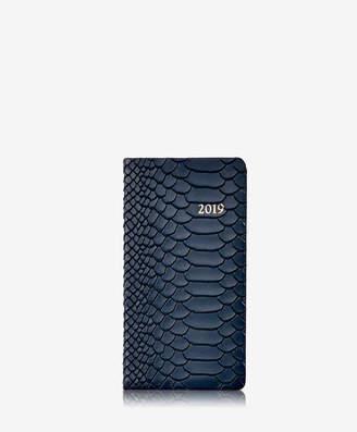 "GiGi New York 2019 6"" Pocket Datebook, Ice Embossed Python Leather"