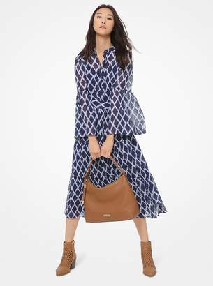 MICHAEL Michael Kors Ikat-Print Tiered Shirtdress