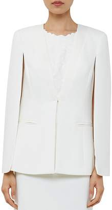 Ted Baker Maggyy Ottoman Cape Blazer $369 thestylecure.com