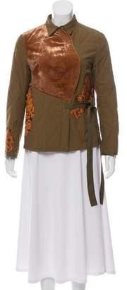3.1 Phillip Lim Floral Appliqué Jacket
