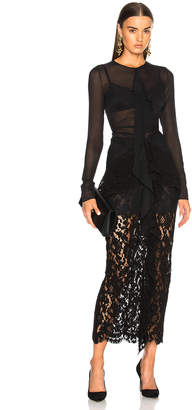 Proenza Schouler Corded Lace Long Sleeve Maxi Dress