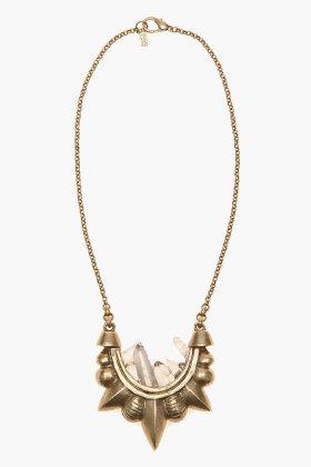 PAMELA LOVE Quartz Tribal Necklace