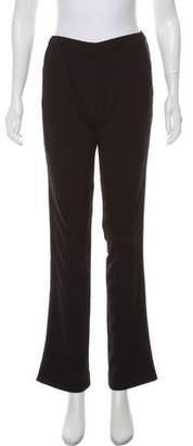 IRO Leather-Trimmed Straight-Leg Pants