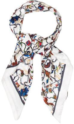 Balenciaga Balenciaga Floral Silk Scarf w/ Tags