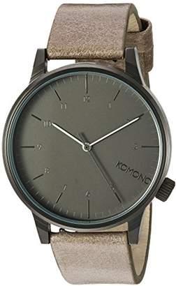 Komono ' Winston Regal' Quartz Stainless Steel and Leather Dress Watch
