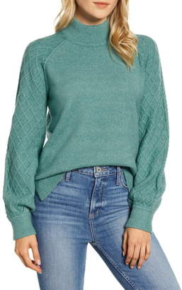 Caslon Mix Stitch Turtleneck Sweater
