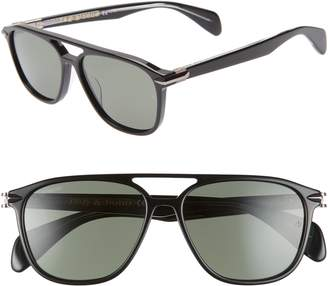 3c4e917b46 Rag   Bone 54mm Polarized Aviator Sunglasses