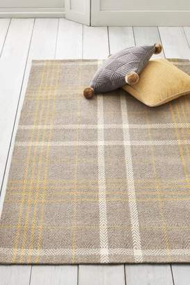 Next Ochre Check Rug