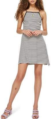 Topshop Stripe Skater Dress
