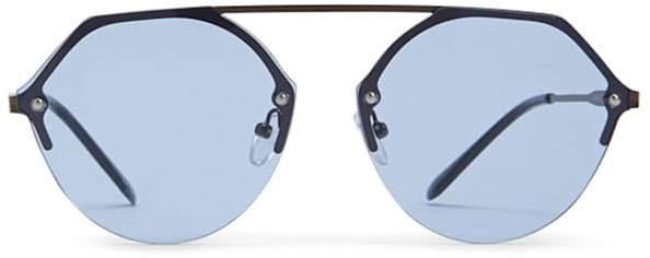 Forever 21 Premium Tinted Browline Sunglasses