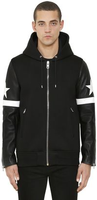 Hooded Neoprene & Leather Bomber Jacket $3,265 thestylecure.com