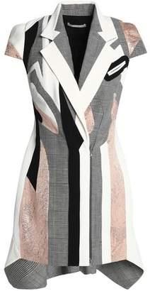 Antonio Berardi Paneled Wool-Blend Mini Dress