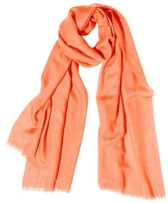Johnstons of Elgin Apricot Tissue Cashmere Scarf