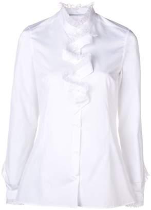 Ermanno Scervino ruffle front mandarin blouse