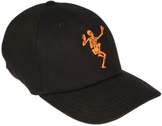 Alexander McQueen Embroidered Dancing Skeleton Cap