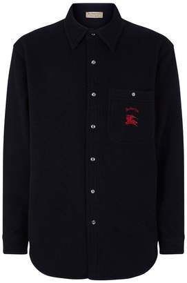 Burberry Archive Logo Wool Cashmere Overshirt