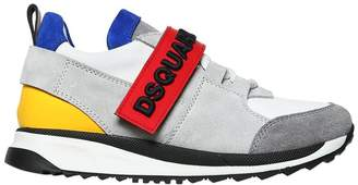 DSQUARED2 Nappa Leather & Suede Sneakers