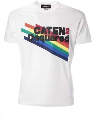 DSQUARED2 Rainbow Slogan T-shirt