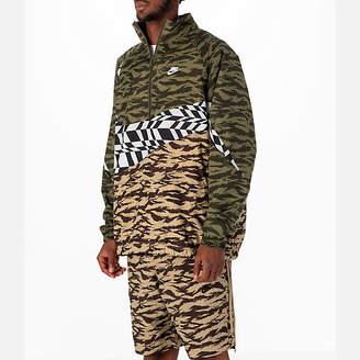 Nike Men's Sportswear Vaporwave Swoosh Woven Half-Zip Jacket