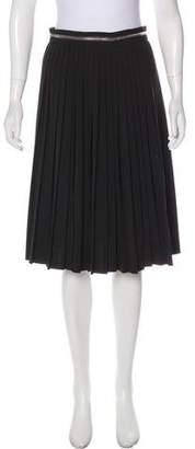 Givenchy Pleated Knee-Length Skirt