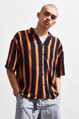 Loom Retro Stripe Short Sleeve Button-Down Shirt