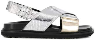 Marni Fussbett metallic sandals