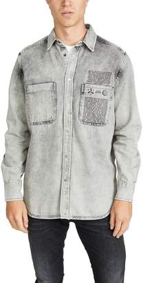 Diesel D-Milov Treated Denim Shirt Jacket