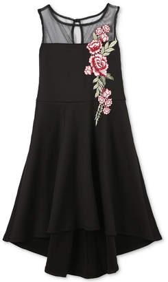 Speechless Big Girls Embroidered Scuba Dress